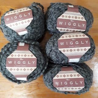 ウール45%毛糸玉40g×5玉 濃いグレー 東海(生地/糸)