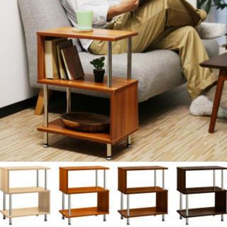 木目調 S地 ディスプレイ サイドテーブル デスク(ローテーブル)