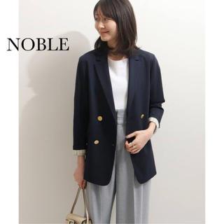 ノーブル(Noble)の美品★ノーブル★カルぜストレッチ テーラードジャケット2020 ネイビー 38(テーラードジャケット)