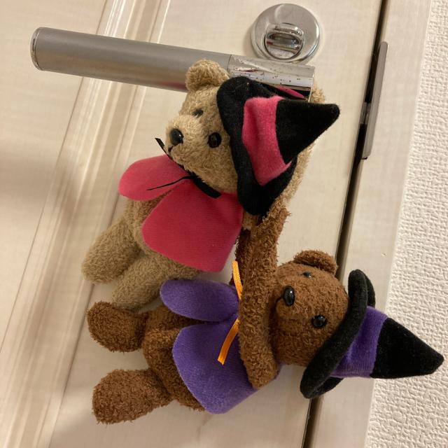 KALDI(カルディ)のカルディ ハロウィン 連結式 ベアマスコット ギフト チャーム ぬいぐるみ  エンタメ/ホビーのおもちゃ/ぬいぐるみ(ぬいぐるみ)の商品写真