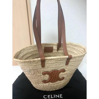 celine - CELINE セリーヌ かごバッグ ミディアム トリオンフ バスケット ラフィア