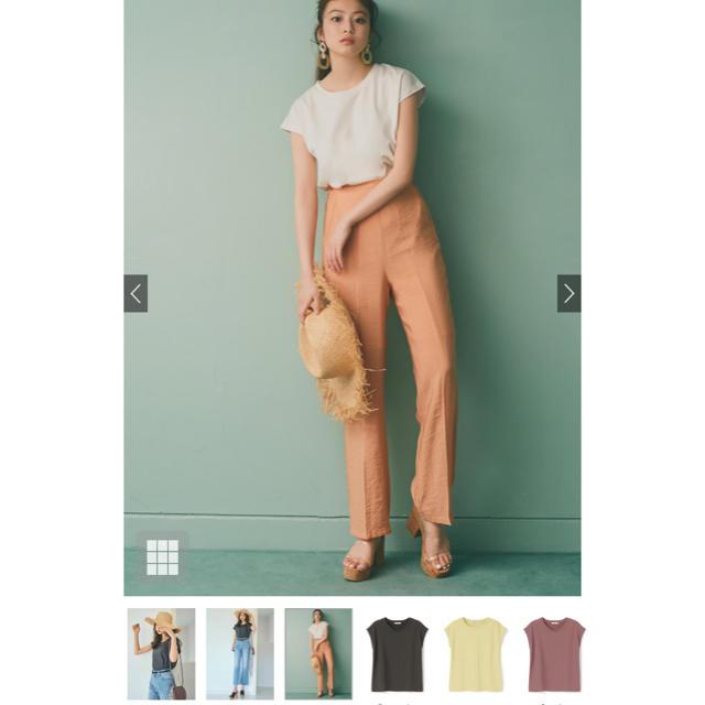 GRL(グレイル)の● sale ●新品 GRL フレンチスリーブTシャツ ピンク レディースのトップス(Tシャツ(半袖/袖なし))の商品写真