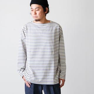 コモリ(COMOLI)のCOMOLI コモリ ボートネック ボーダー カットソー サイズ 1(Tシャツ/カットソー(七分/長袖))