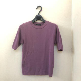 ディーホリック(dholic)の韓国購入 半袖ニット 紫ニット パープル(ニット/セーター)