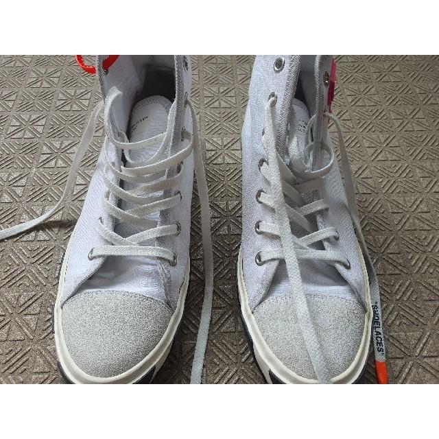 OFF-WHITE(オフホワイト)のoff-White VULCANISED STRIPED HITOP メンズの靴/シューズ(スニーカー)の商品写真