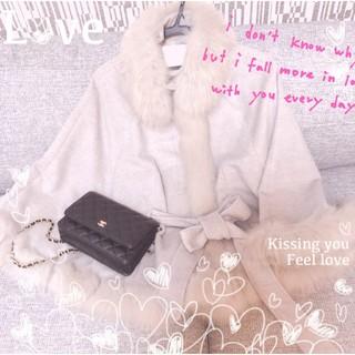 ラベルエチュード(la belle Etude)の*°♡CECIL*°♡美品リアルファーゴージャスポンチョ*°♡(毛皮/ファーコート)