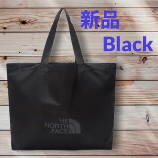 ザノースフェイス(THE NORTH FACE)の新品 ノースフェイス 黒色☆ ショッパーバッグ L エコバッグ トートバッグ(トートバッグ)