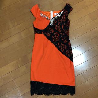 キャバドレス  オレンジミニドレスMsize キャバ嬢、ホステスさんに