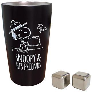 スヌーピー(SNOOPY)のスヌーピーステンレスタンブラー アイスキューブ2個付き 300ml(タンブラー)