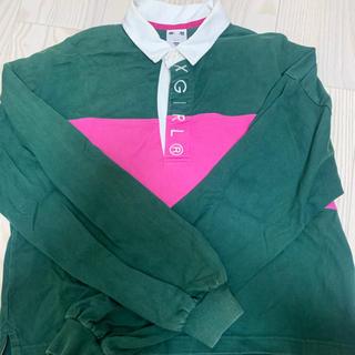 エックスガール(X-girl)のまだまだ着れます!!【お値下げ 】xgiri ラガーシャツ(ポロシャツ)