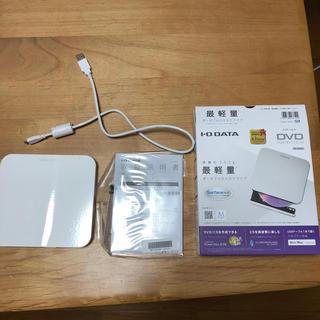 アイオーデータ(IODATA)の中古品 USB 2.0対応 ポータブルDVDドライブ DVRP-U8LW(PC周辺機器)