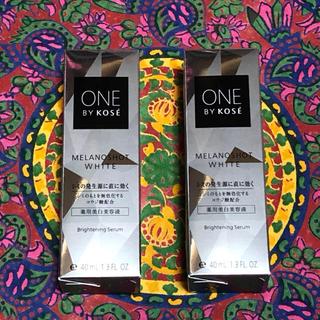 コーセー(KOSE)の【40ml×2箱】ワンバイコーセー メラノショットホワイト 美白美容液 セラム(美容液)