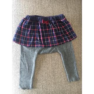 プティマイン(petit main)の美品 プティマイン スカートパンツ チェック 70㎝(パンツ)