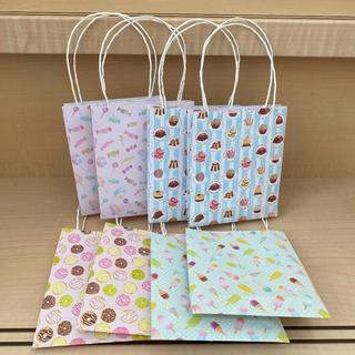 ミニ紙袋 ハンドメイド 大きめ スイーツ(カード/レター/ラッピング)
