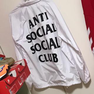 アンチ(ANTI)のアンチソーシャルナイロンジャケット(Tシャツ/カットソー(半袖/袖なし))