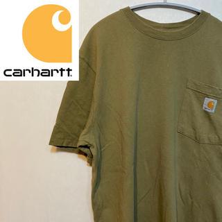 カーハート(carhartt)のカーハート  Tシャツ ポケット ワンポイント  ブラウン M 90s 90年代(Tシャツ/カットソー(半袖/袖なし))