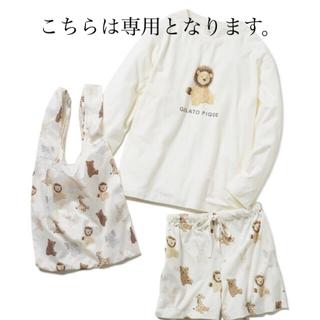 gelato pique - ジェラピケ ぬいぐるみロングスリーブTシャツ&ショートパンツ&エコバッグSET