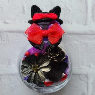 ボトルフラワー 赤いリボンの黒ネコ*ฅ₍˄·͈༝·͈˄₎◞(その他)