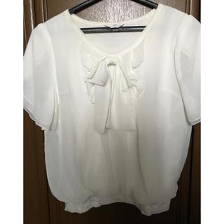 カールパークレーン(KarL Park Lane)のカールパークレーン シフォンブラウス 白 Mサイズ(シャツ/ブラウス(半袖/袖なし))