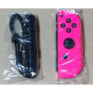 Nintendo Switch - 未使用 ジョイコン 右 ネオンピンク ストラップ