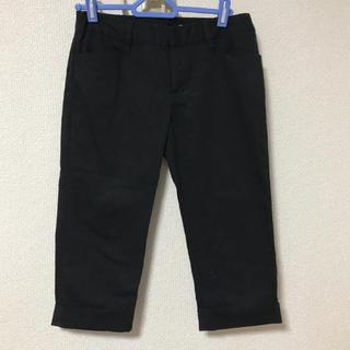ザジ(ZAZIE)のクロップドパンツ ブラック 黒 綿 7分丈(カジュアルパンツ)