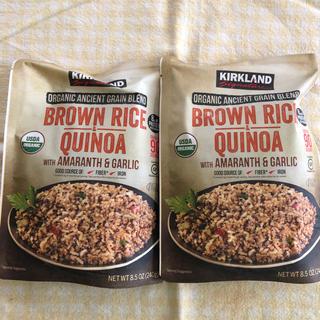 コストコ(コストコ)のコストコ ブラウンライス&キヌア2袋レトルト お試し 雑穀《新品》(レトルト食品)