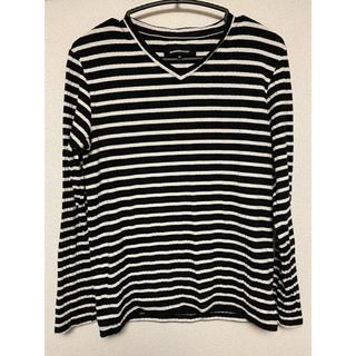セマンティックデザイン(semantic design)の【semantic design】ロングTシャツ M 白黒(Tシャツ/カットソー(七分/長袖))