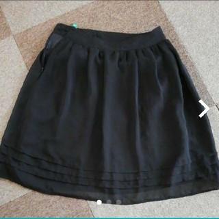 OL上品シフォンスカート(ひざ丈スカート)