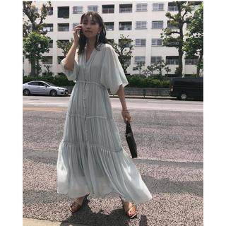 Ameri VINTAGE - sheer tierred dress