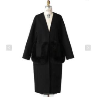 ドゥロワー(Drawer)の新品♡今季完売♡drawer ドゥロワー ファー ノーカラー コート 34(ロングコート)