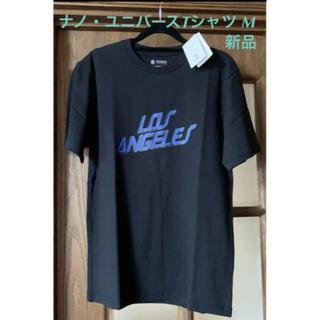 ナノユニバース(nano・universe)の新品タグ付 ナノ・ユニバース Tシャツ メンズ M   ブラック *(Tシャツ/カットソー(半袖/袖なし))