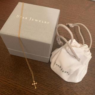 スタージュエリー(STAR JEWELRY)のstar jewelry k18 ダイヤモンド0.01カラット ネックレス 美品(ネックレス)