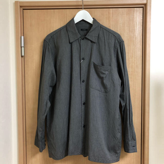 COMOLI - 20AW comoli  コモリ ヨリ杢 オープンカラーシャツ サイズ1