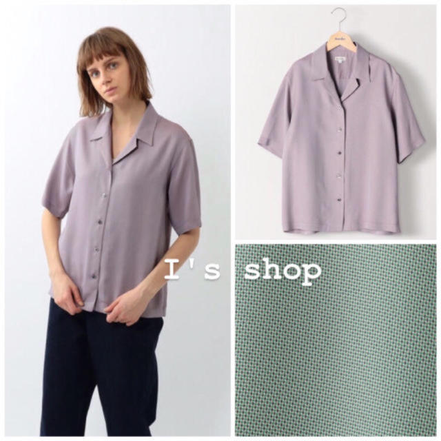 steven alan(スティーブンアラン)の人気完売品 3/3まで限定値下げ StevenAlan オープンカラーシャツ レディースのトップス(シャツ/ブラウス(半袖/袖なし))の商品写真