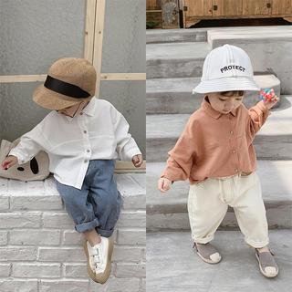 韓国子供服 新品 女の子 男の子 コットン ナチュラル Tシャツ カットソー