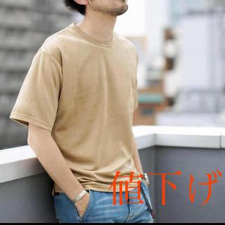 ナノユニバース(nano・universe)のフェイクスウェードクルーネックTシャツ (Tシャツ/カットソー(半袖/袖なし))