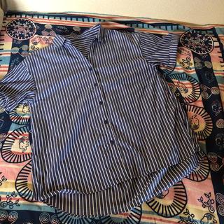 ヴィス(ViS)のVIS ストライプシャツ 半袖 サイズF(シャツ/ブラウス(半袖/袖なし))