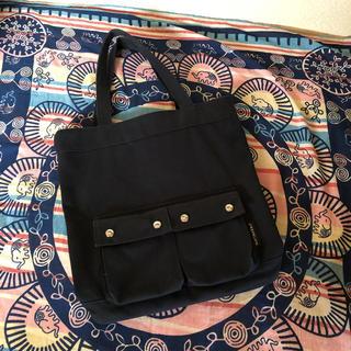 マリメッコ(marimekko)のmarimekko キャンパス地トートバッグ ブラック(トートバッグ)