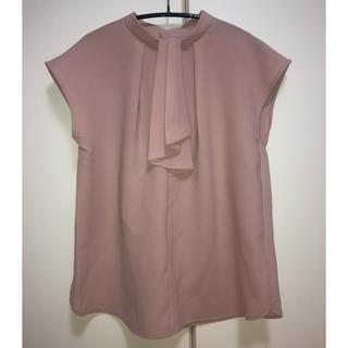⭐︎新品⭐︎GUタイネックブラウス(半袖)Sサイズ
