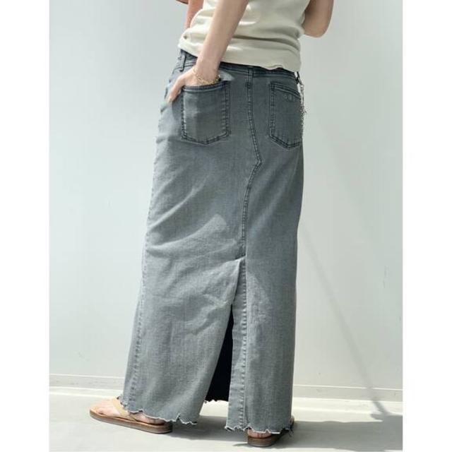 L'Appartement DEUXIEME CLASSE(アパルトモンドゥーズィエムクラス)の新品【GOOD GRIEF/グッドグリーフ】DENIM LONG スカート38 レディースのスカート(ロングスカート)の商品写真
