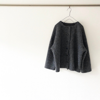 nest Robe - ◌新品◌ nest Robe ネストローブ ウール ノーカラー ジャケット 秋冬