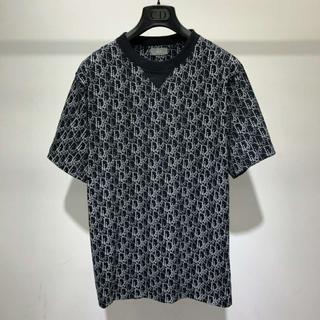 ディオール(Dior)のDiorディオール ビーズ風DIOR OBLIQUEプリントTシャツ(Tシャツ/カットソー(半袖/袖なし))