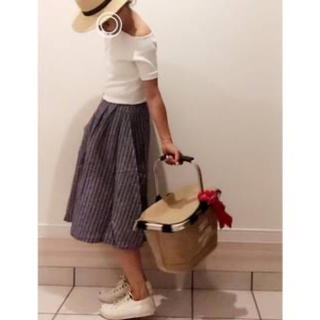 ウィゴー(WEGO)のWEGO♡リネンユニオンスカート(ひざ丈スカート)