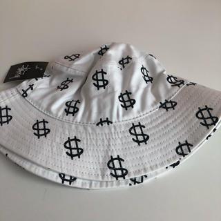STUSSY - STUSSY ハット 帽子 白