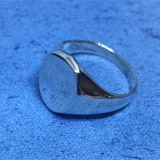 オーバル印台シルバー925リングスターリング銀シグネットSILVER925指輪(リング(指輪))