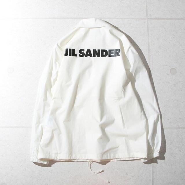 Jil Sander(ジルサンダー)のジルサンダー JIL SANDER ロゴ コーチジャケット ホワイト メンズのジャケット/アウター(ナイロンジャケット)の商品写真