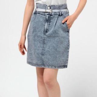 ウィゴー(WEGO)のWEGO♡ベルト付きデニムスカート(ひざ丈スカート)