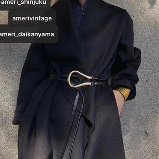 アメリヴィンテージ(Ameri VINTAGE)の【23日水曜発送】Black×Gold 馬蹄 U型 バックルベルト(ベルト)