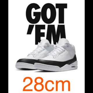 "NIKE - FRAGMENT × NIKE AIR JORDAN 3 ""WHITE/BLAC"