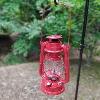 【新品】オイルランタン 赤 ランタン ハリケーンランタン キャンプ ライト 照明